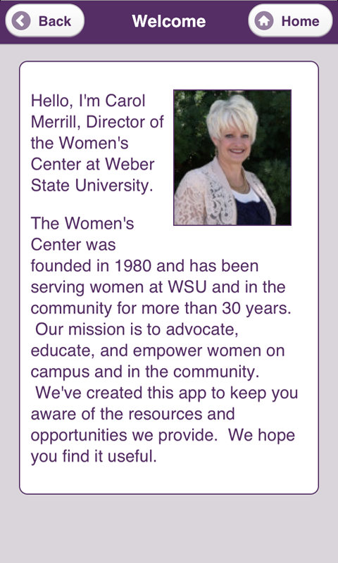 WSU Women's Center - screenshot