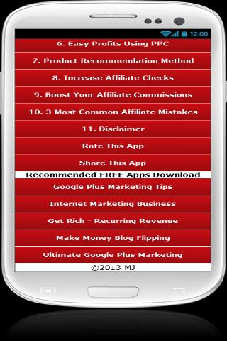 Get Rich - Affiliate Marketing - screenshot