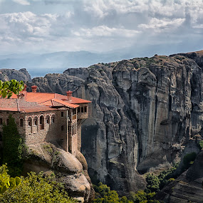 Meteora by Ева Йорданова - Landscapes Travel ( religion, monastery, rock, view, high,  )
