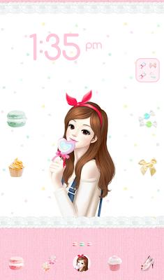 러블리걸(달콤하트) 도돌런처 테마 - screenshot