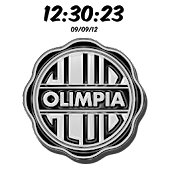 Club Olimpia Digital Clock