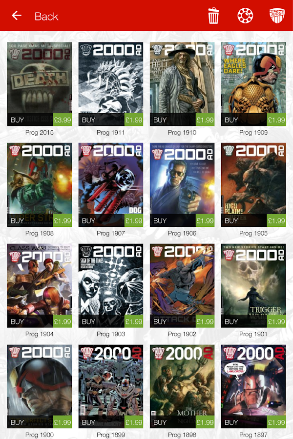 2000 AD Comics and Judge Dredd- screenshot