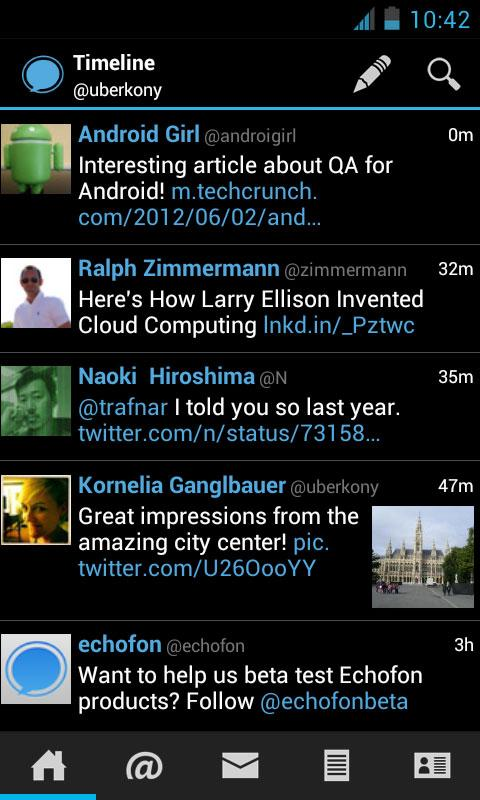 Echofon for Twitter- screenshot