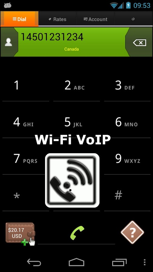 Wi-Fi Voip: make VOIP calls - screenshot