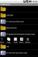 Screenshot of File browser lite