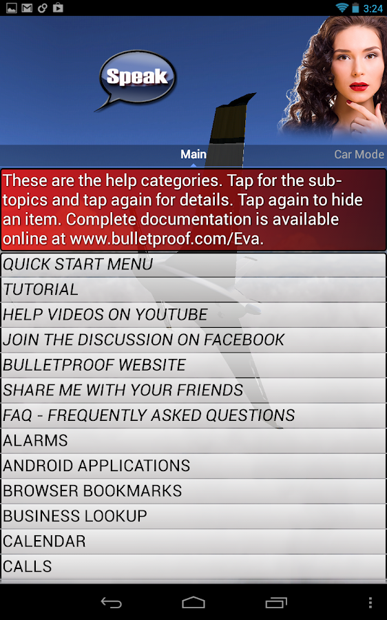 EVA - (Siri for Android) - screenshot