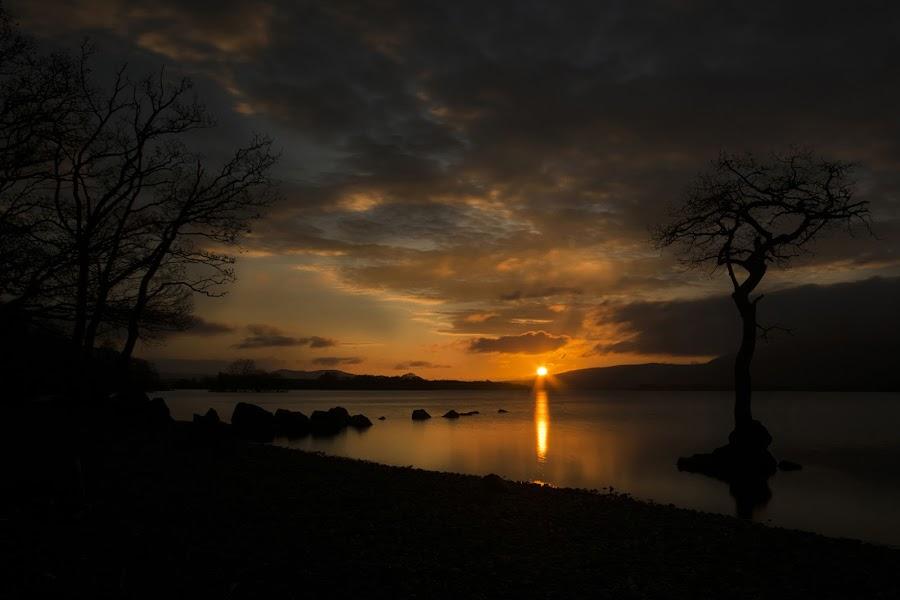sunset at milarochy bay by Scott Muir - Landscapes Sunsets & Sunrises ( colourful, waterscape, sunset, landscape,  )