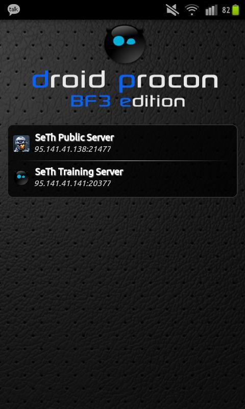 Droid PRoCon BF3- screenshot