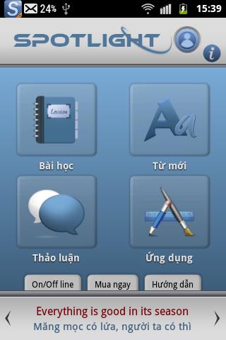 Luyen Nghe Tieng Anh Spotlight - screenshot