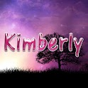 Kimberly pink sticker logo