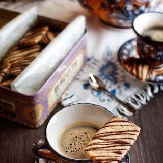 Coffee and Hazelnut Shortbread.