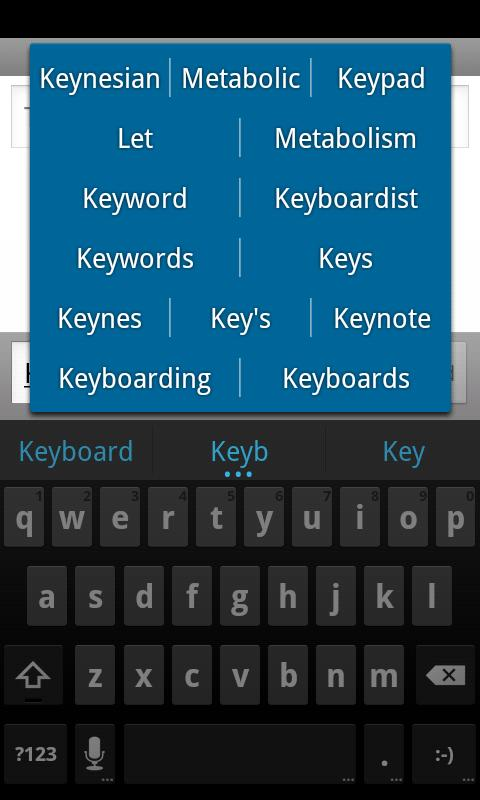 ICS Keyboard - screenshot