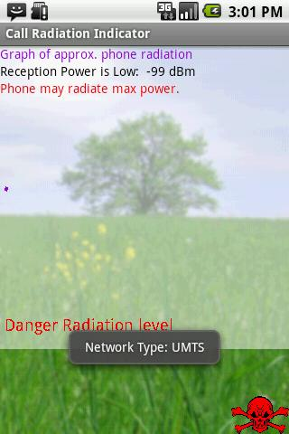 Call Radiation Indicator - screenshot
