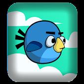 Blue floppy bird