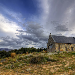 A Historical Church near Lake Tekapo by Rozaitonisah Razali - Buildings & Architecture Places of Worship