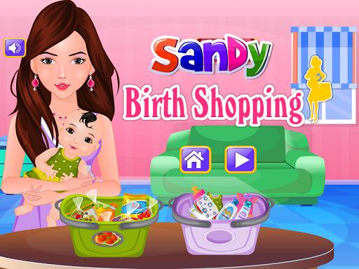 桑迪出生的購物遊戲