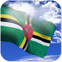 3D Dominica Flag + icon