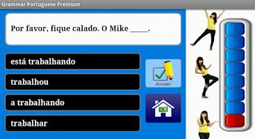 Screenshot of Portuguese Grammar Free