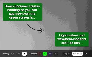 Screenshot of Green Screener