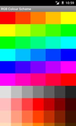 RGB配色方案