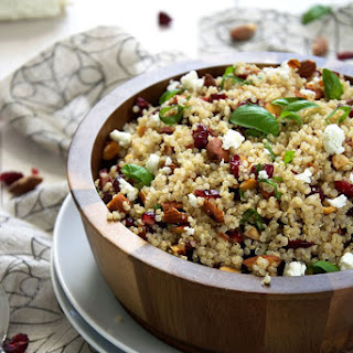 Cranberry & Smoked Almond Quinoa Salad with Balsamic Vinaigrette.