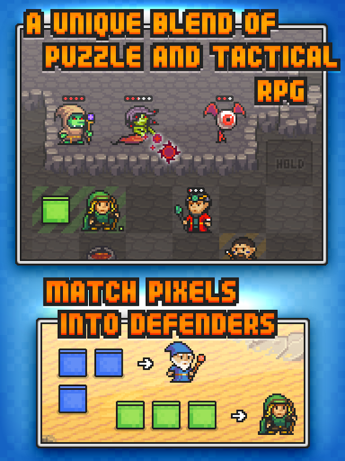 Pixel Defenders Puzzle - screenshot