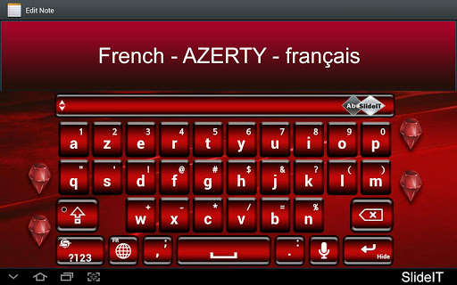 SlideIT French AZERTY Pack