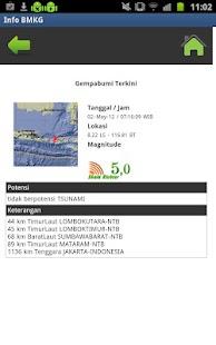 Info Gempa dan Cuaca - screenshot thumbnail