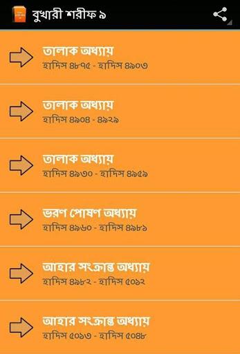 বাংলা বুখারী শরীফ ৯ম