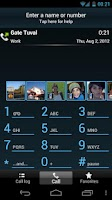 Screenshot of TAKEphONE contacts dialer