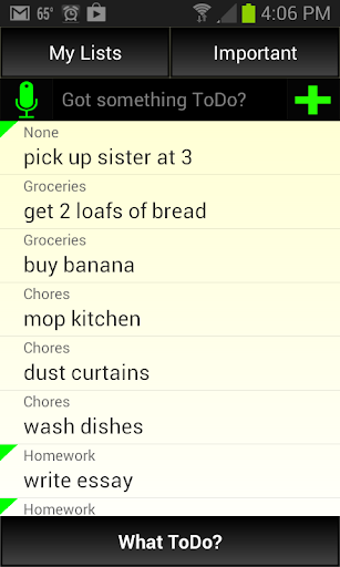 What ToDo - To Do List