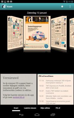 FD e-paper - screenshot