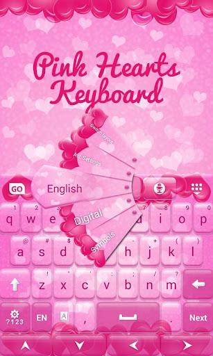 無料个人化Appのピンクのハートキーボード 記事Game