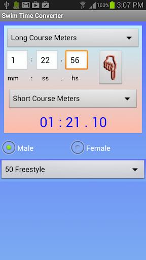 Swim Time Converter