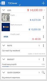 T2Expense - Money Manager Screenshot 1