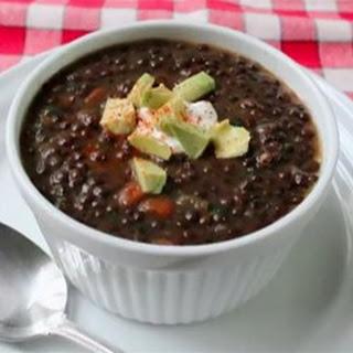 Chef John's Black Lentil Soup