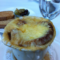 Gf French onion soup and gf bread, YUM!