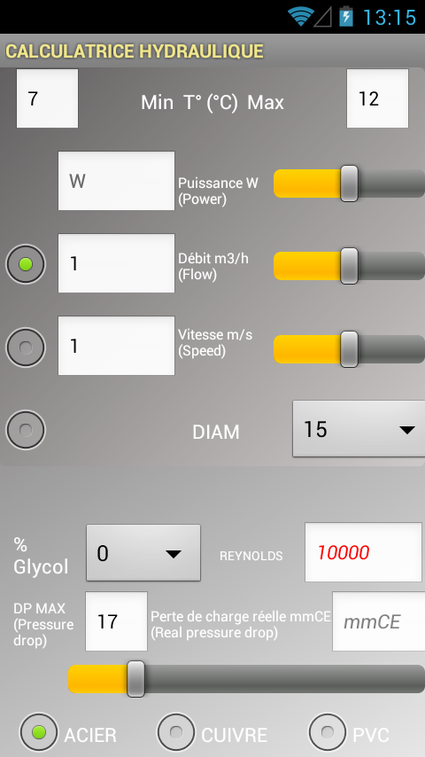 HydroCalc - screenshot