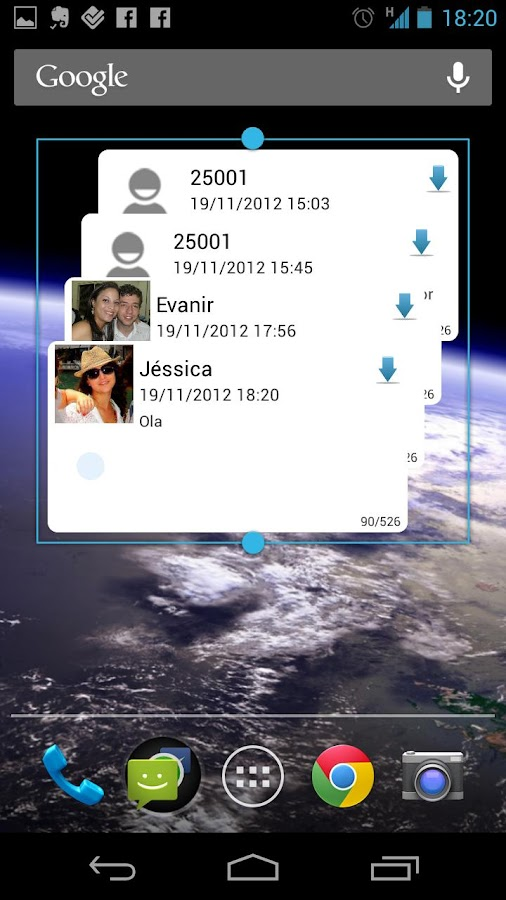 SMS Widget - screenshot