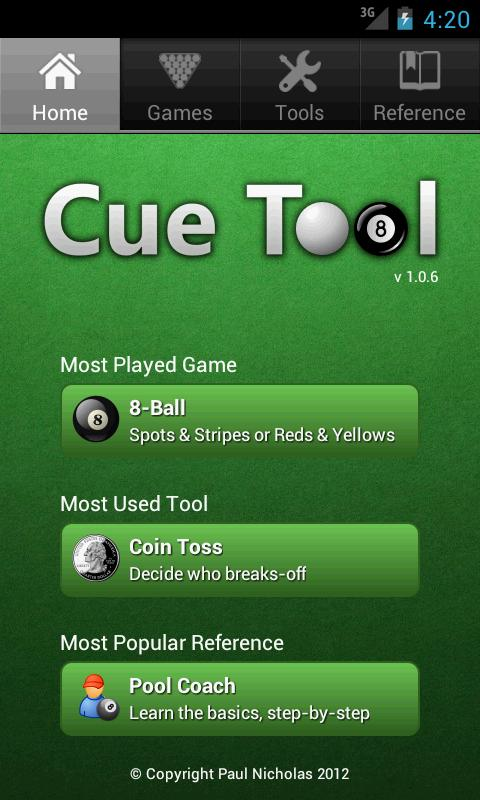 Cue Tool- screenshot