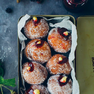 Blackberry & Custard Doughnuts.