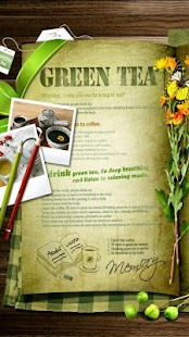 Green Tea Photoframe LWP - screenshot thumbnail