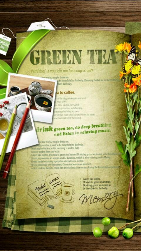 Green Tea Photoframe LWP - screenshot