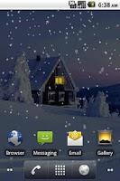 Screenshot of Snowfall Pro Live Wallpaper