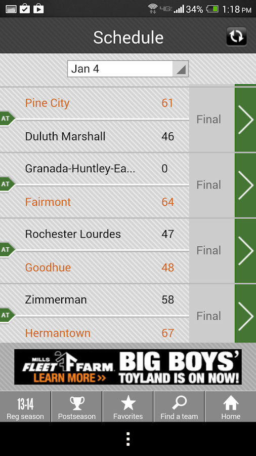 Boys' Basketball Scoreboard- screenshot