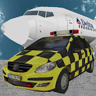 Ultra 3D airport car parking icon