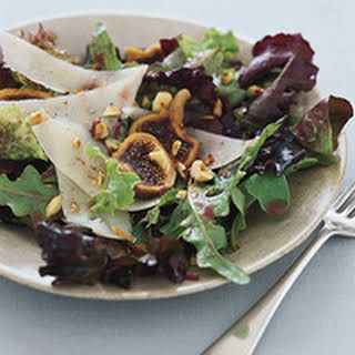 Mixed Greens with Fig and Wine Dressing.