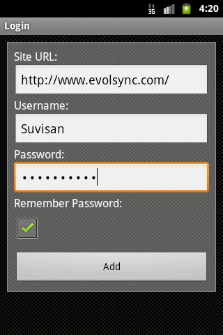 EvolSync- screenshot
