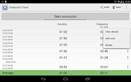 Contraction Timer Screenshot 11