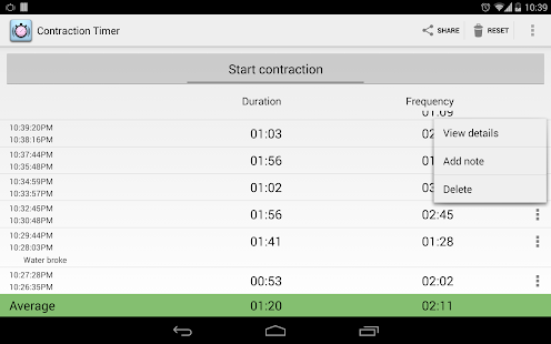 Contraction Timer Screenshot 11